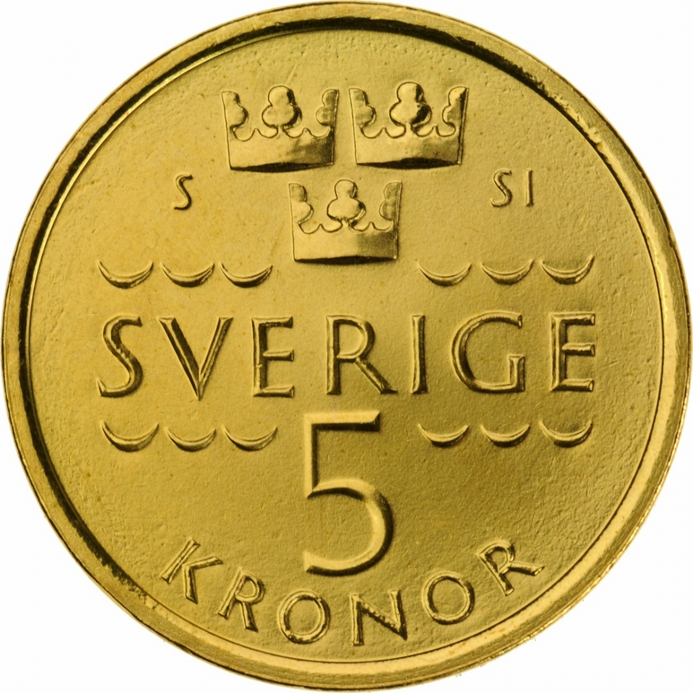 5 Kronor Sweden 2016 | CoinBrothers Catalog