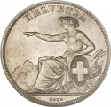 2 Francs 1860-1863, KM# 10a, Switzerland