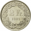 2 Francs 1968-2020, KM# 21a, Switzerland