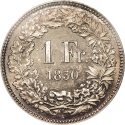 1 Franc 1850-1857, KM# 9, Switzerland