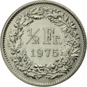1/2 Franc 1968-2020, KM# 23a, Switzerland