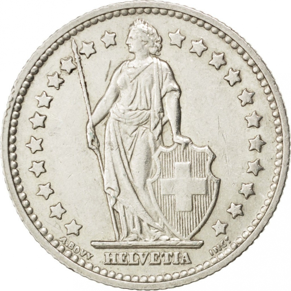 1 Franc 1875-1967, KM# 24, Switzerland