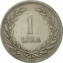 1 Lira 1947-1948, KM# 883, Turkey