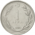 1 Lira 1959-1980, KM# 889a, Turkey
