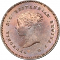1/4 Farthing 1839-1868, KM# 737, United Kingdom (Great Britain), Victoria