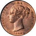 1/3 Farthing 1844, KM# 743, United Kingdom (Great Britain), Victoria
