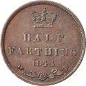 1/2 Farthing 1839-1856, KM# 738, United Kingdom (Great Britain), Victoria