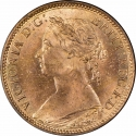 1 Farthing 1874-1895, KM# 753, United Kingdom (Great Britain), Victoria