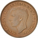 1 Farthing 1937-1948, KM# 843, United Kingdom (Great Britain), George VI