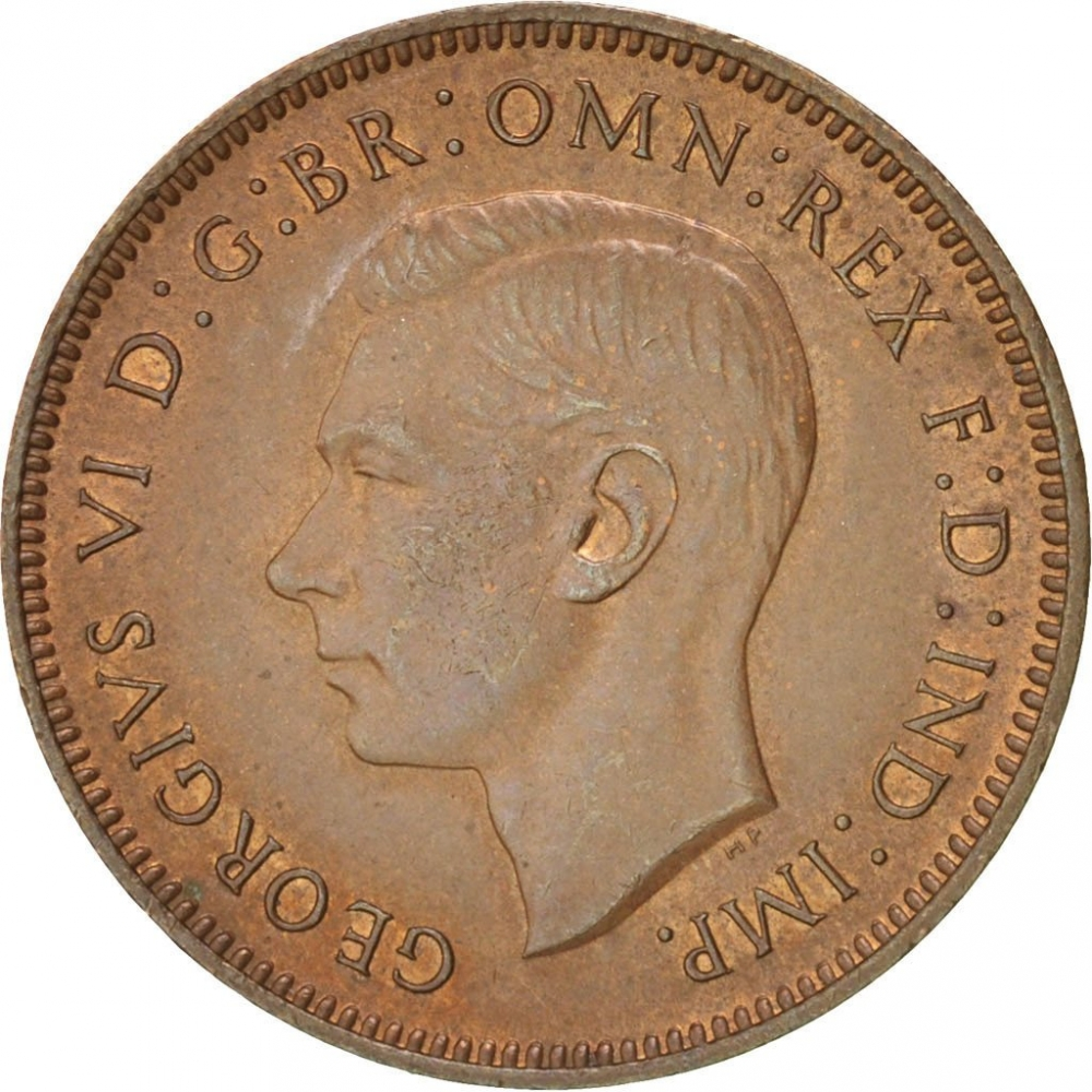 GREAT BRITAIN 1949-1 Farthing  Bronze Coin King George VI