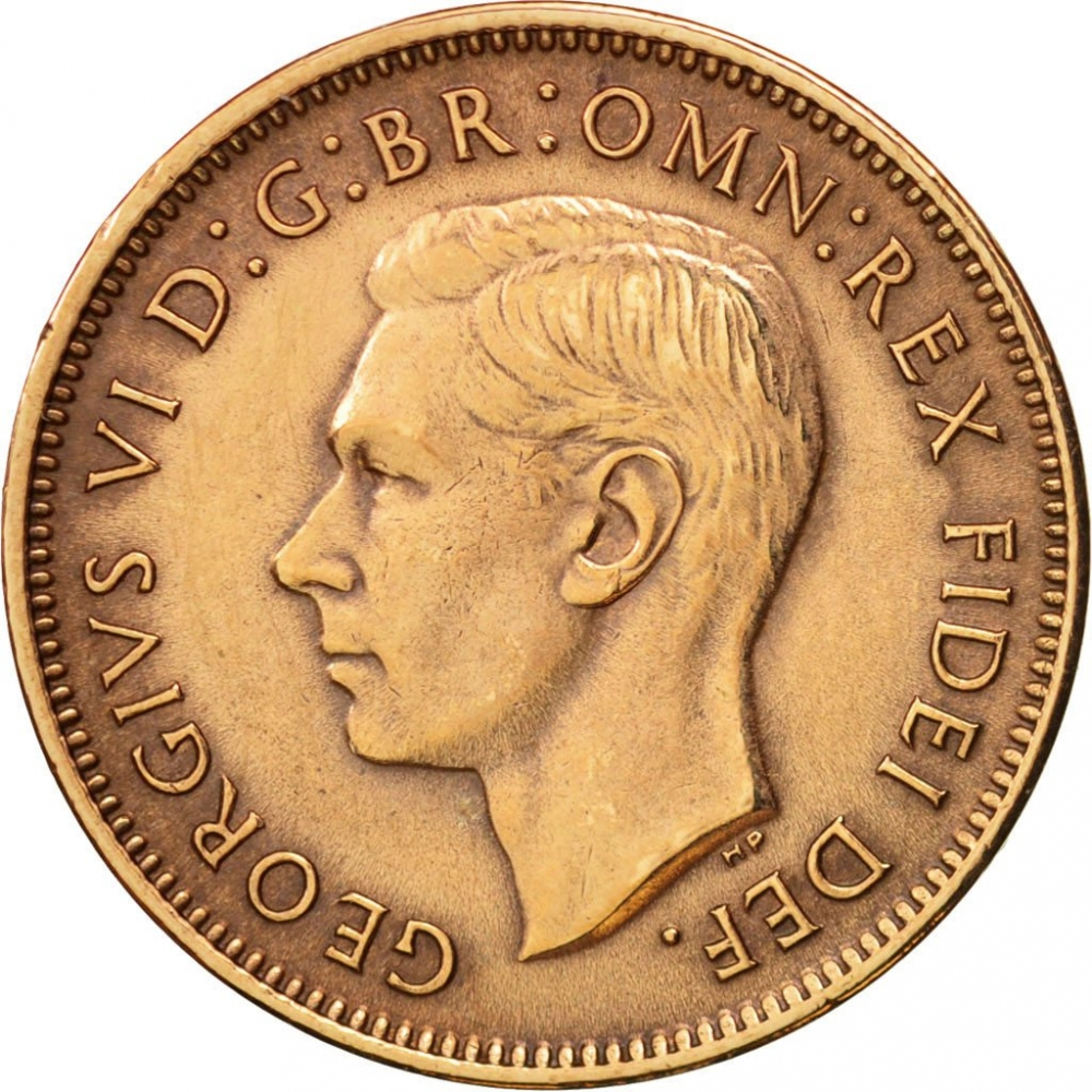 1 Farthing 1949-1952, KM# 867, United Kingdom (Great Britain), George VI