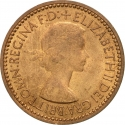 1 Farthing 1953, KM# 881, United Kingdom (Great Britain), Elizabeth II