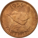 1 Farthing 1954-1956, KM# 895, United Kingdom (Great Britain), Elizabeth II