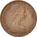 1/2 New Penny 1971-1981, KM# 914, United Kingdom (Great Britain), Elizabeth II