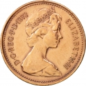 1 New Penny 1971-1981, KM# 915, United Kingdom (Great Britain), Elizabeth II
