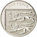 10 Pence 2008-2011, KM# 1110, United Kingdom (Great Britain), Elizabeth II