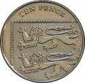 10 Pence 2011-2015, KM# 1110d, United Kingdom (Great Britain), Elizabeth II