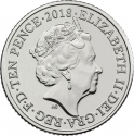 10 Pence 2018-2019, United Kingdom (Great Britain), Elizabeth II, Quintessentially British A to Z, A - Angel of the North