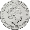 10 Pence 2018-2019, United Kingdom (Great Britain), Elizabeth II, Quintessentially British A to Z, C - Cricket
