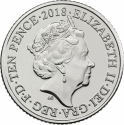 10 Pence 2018-2019, United Kingdom (Great Britain), Elizabeth II, Quintessentially British A to Z, D - Double-Decker Bus