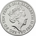10 Pence 2018-2019, United Kingdom (Great Britain), Elizabeth II, Quintessentially British A to Z, F - Fish & Chips