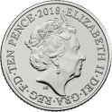 10 Pence 2018-2019, United Kingdom (Great Britain), Elizabeth II, Quintessentially British A to Z, I - Ice Cream Cone