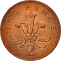 2 Pence 1992-1997, KM# 936a, United Kingdom (Great Britain), Elizabeth II