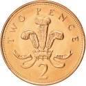 2 Pence 1998-2008, KM# 987, United Kingdom (Great Britain), Elizabeth II