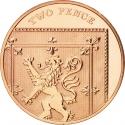 2 Pence 2008-2015, KM# 1108, United Kingdom (Great Britain), Elizabeth II