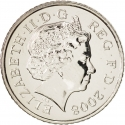 5 Pence 2008-2011, KM# 1109, United Kingdom (Great Britain), Elizabeth II