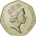 50 Pence 1985-1997, KM# 940.1, United Kingdom (Great Britain), Elizabeth II