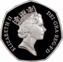 50 Pence 1992, KM# 963a, United Kingdom (Great Britain), Elizabeth II, United Kingdom's Presidency of the Council of Ministers