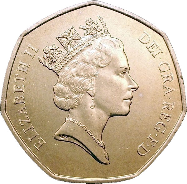 50 Pence 1992, KM# 963, United Kingdom (Great Britain), Elizabeth II, United Kingdom's Presidency of the Council of Ministers