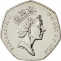 50 Pence 1994, KM# 966, United Kingdom (Great Britain), Elizabeth II, 50th Anniversary of D-Day