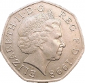 50 Pence 1998, KM# 996, United Kingdom (Great Britain), Elizabeth II, 50th Anniversary of the National Health Service