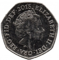50 Pence 2015-2017, Sp# H30, United Kingdom (Great Britain), Elizabeth II