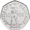 50 Pence 2016, Sp# H32, United Kingdom (Great Britain), Elizabeth II, 950th Anniversary of the Battle of Hastings