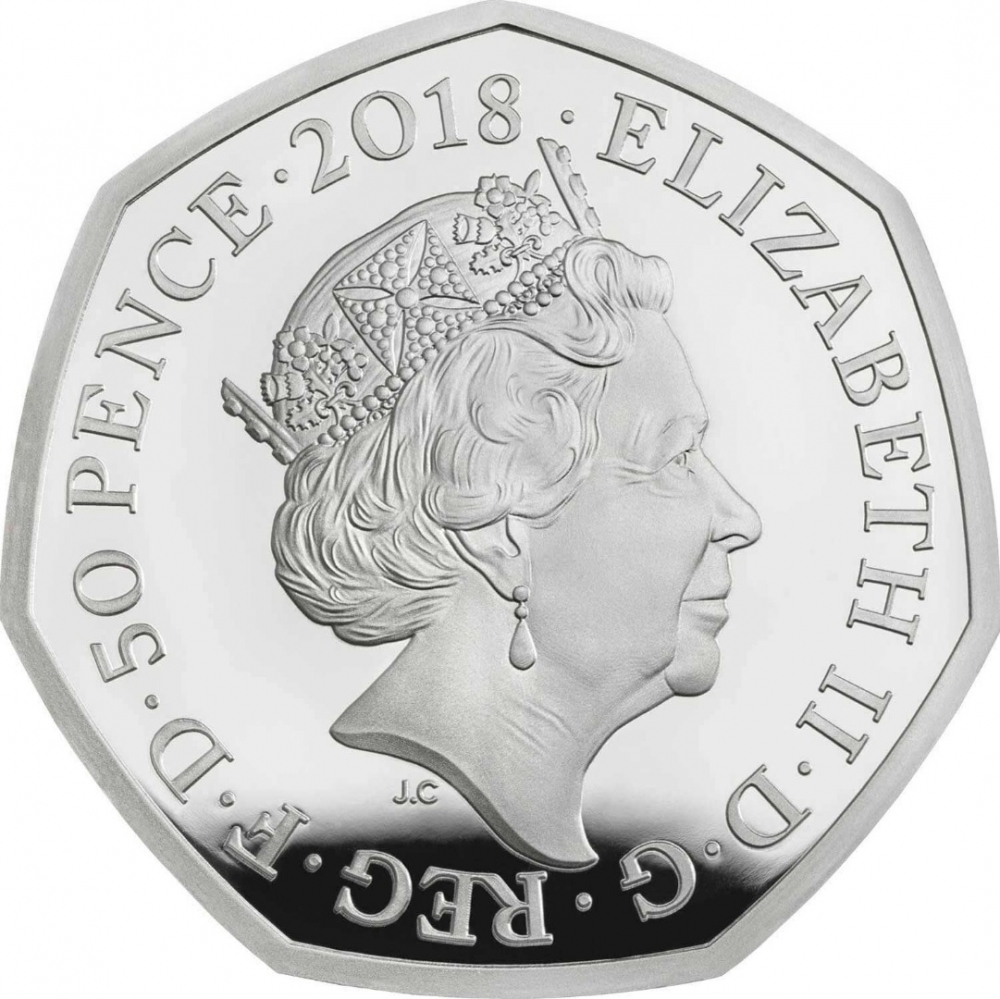 50 Pence 2018, United Kingdom (Great Britain), Elizabeth II, 40th Anniversary of The Snowman