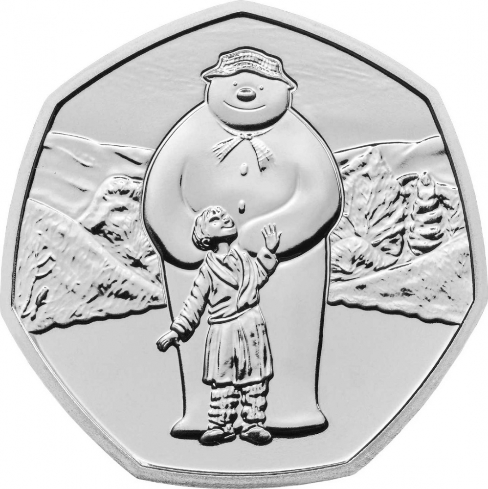 50 Pence 2019, United Kingdom (Great Britain), Elizabeth II, The Snowman