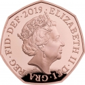50 Pence 2019, United Kingdom (Great Britain), Elizabeth II, 160th Anniversary of Birth of Arthur Conan Doyle
