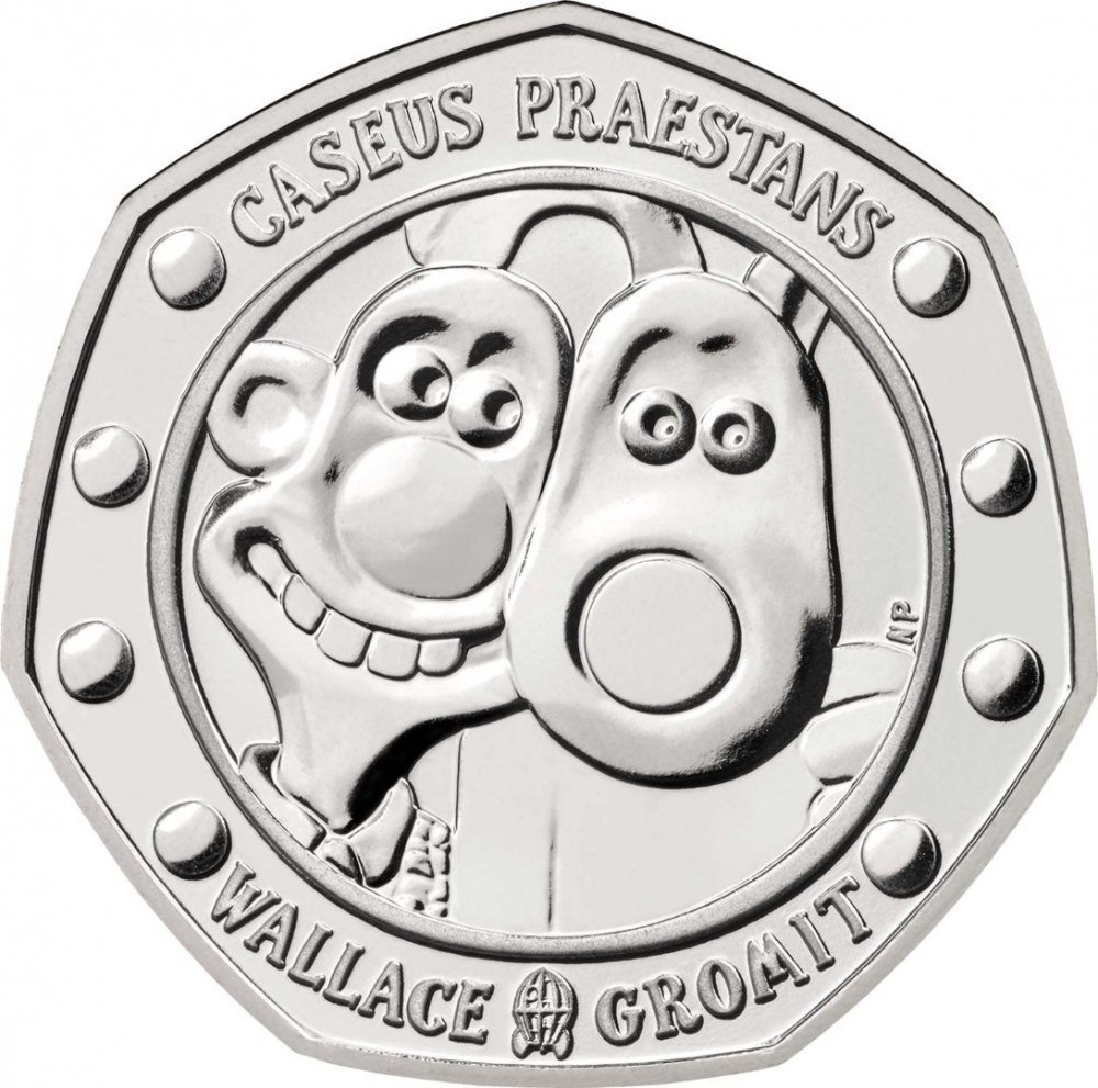 50 Pence 2019, United Kingdom (Great Britain), Elizabeth II, 30th Anniversary of Wallace and Gromit