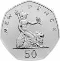 50 Pence 2019, United Kingdom (Great Britain), Elizabeth II, Celebrating 50 Years of the 50p, 50 New Pence