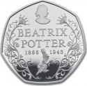 50 Pence 2016, United Kingdom (Great Britain), Elizabeth II, 150th Anniversary of the Birth of Beatrix Potter, Beatrix Potter