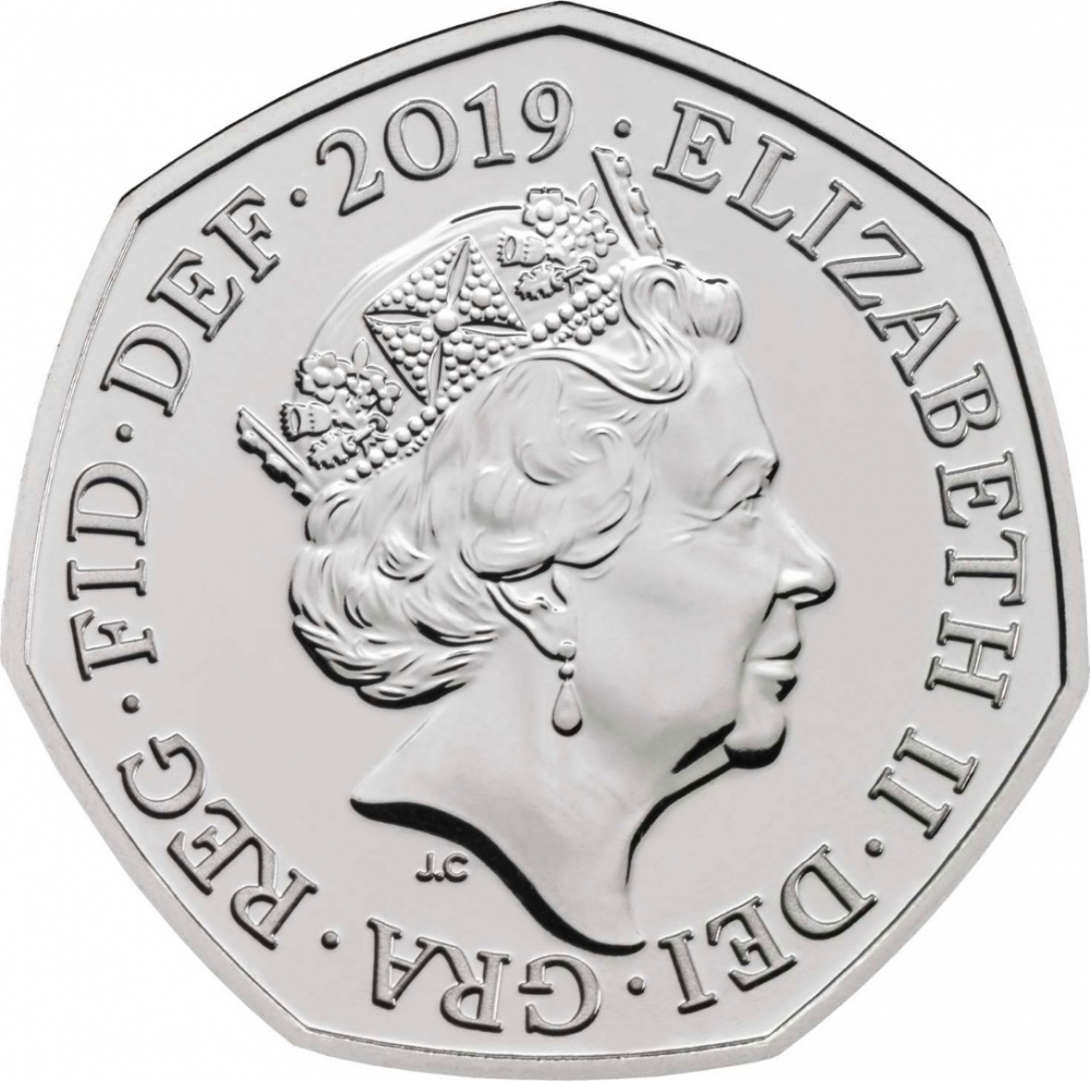 50 Pence 2019, United Kingdom (Great Britain), Elizabeth II, Celebrating 50 Years of the 50p, British Culture, 50 New Pence
