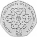 50 Pence 2019, United Kingdom (Great Britain), Elizabeth II, Celebrating 50 Years of the 50p, British Culture, Girl Guides