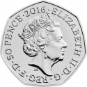 50 Pence 2016, Sp# H35, United Kingdom (Great Britain), Elizabeth II, 150th Anniversary of the Birth of Beatrix Potter, Jemima Puddle-Duck