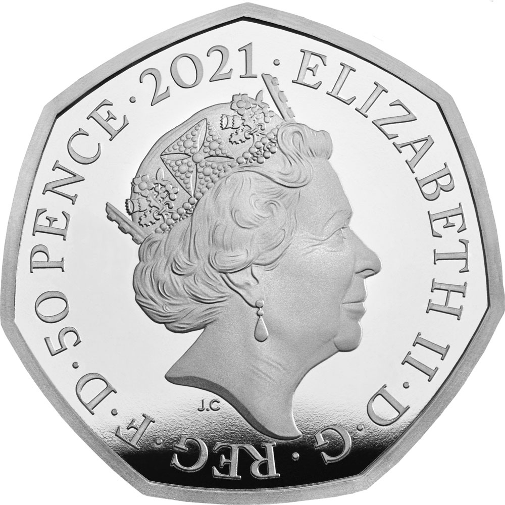 50 Pence 2021, United Kingdom (Great Britain), Elizabeth II, Innovators in Science, John Logie Baird