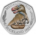 50 Pence 2020, United Kingdom (Great Britain), Elizabeth II, Dinosauria Collection, Megalosaurus