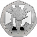 50 Pence 2019, United Kingdom (Great Britain), Elizabeth II, Celebrating 50 Years of the 50p, Military, 150th Anniversary of the Institution of the Victoria Cross, Soldiers