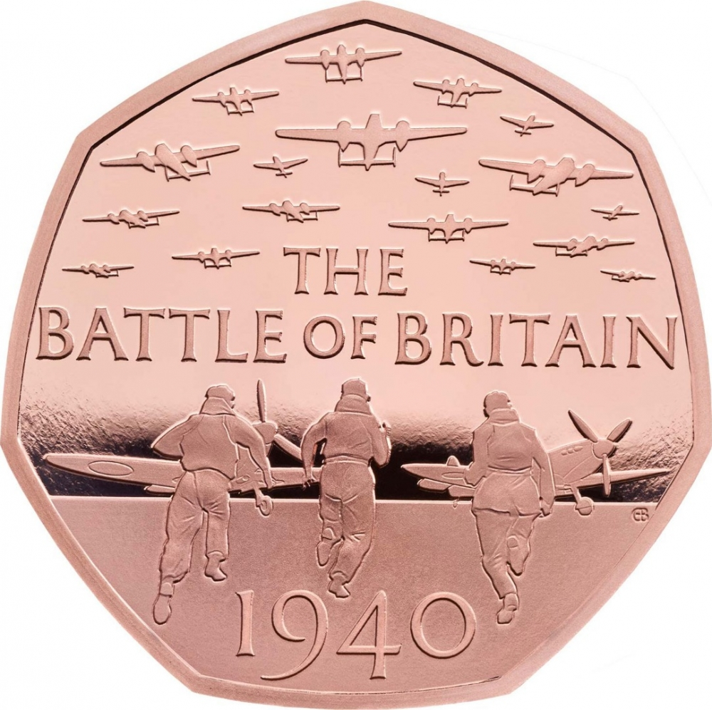 50 Pence 2019, United Kingdom (Great Britain), Elizabeth II, Celebrating 50 Years of the 50p, Military, 75th Anniversary of the Battle of Britain